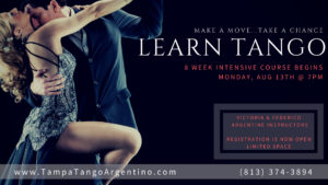 ** NEW ** Tango: 8-Week Intensive Beginner Course @ Lavelle Hall | Tampa | Florida | United States